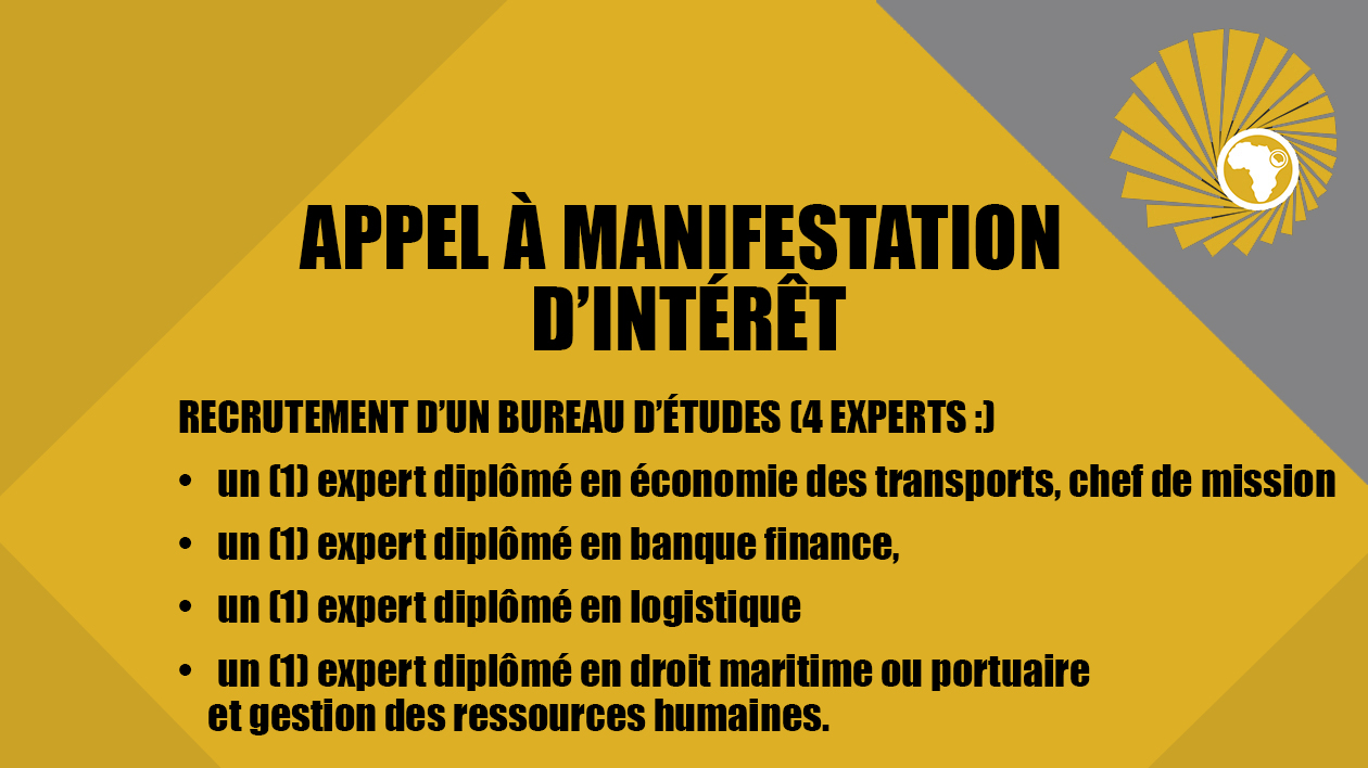 APPEL A MANIFESTATION D'INTERET : Recrutement d'un bureau d'étude international