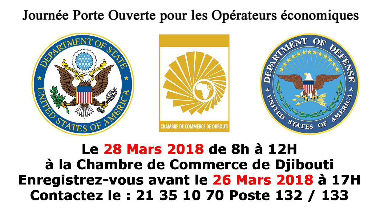 journee portes ouvertes 28 mars 2018 chambre de commerce de djibouti ccd au service. Black Bedroom Furniture Sets. Home Design Ideas