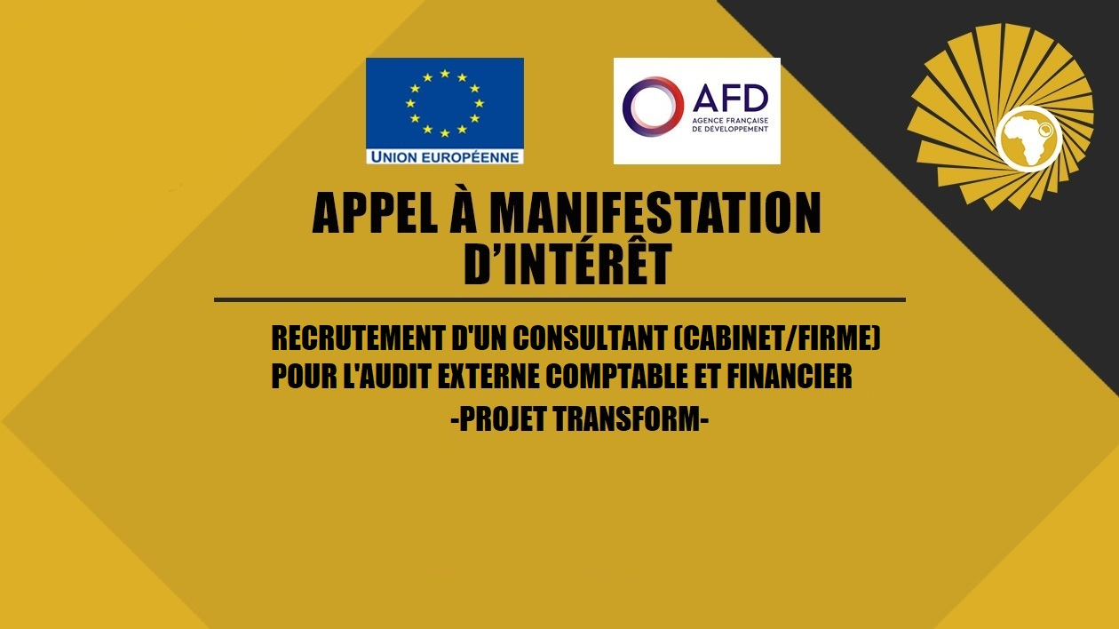 APPEL A MANIFESTATIONS  D'INTERET